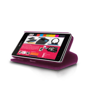 Orzly Wallet Case for Xperia Z1 Compact - Purple