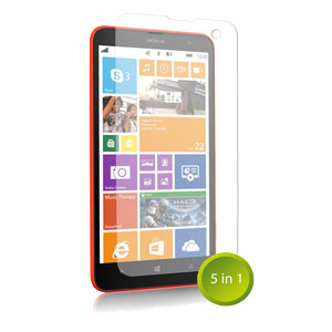 Orzly Nokia Lumia 1320 Screen Protector Pack 5-in-1