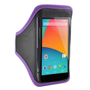 Universal Armband for Medium-Sized Smartphones - Purple