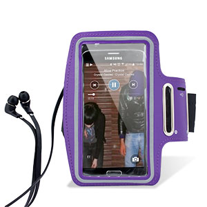 Universal Armband for Large-Sized Smartphones - Purple