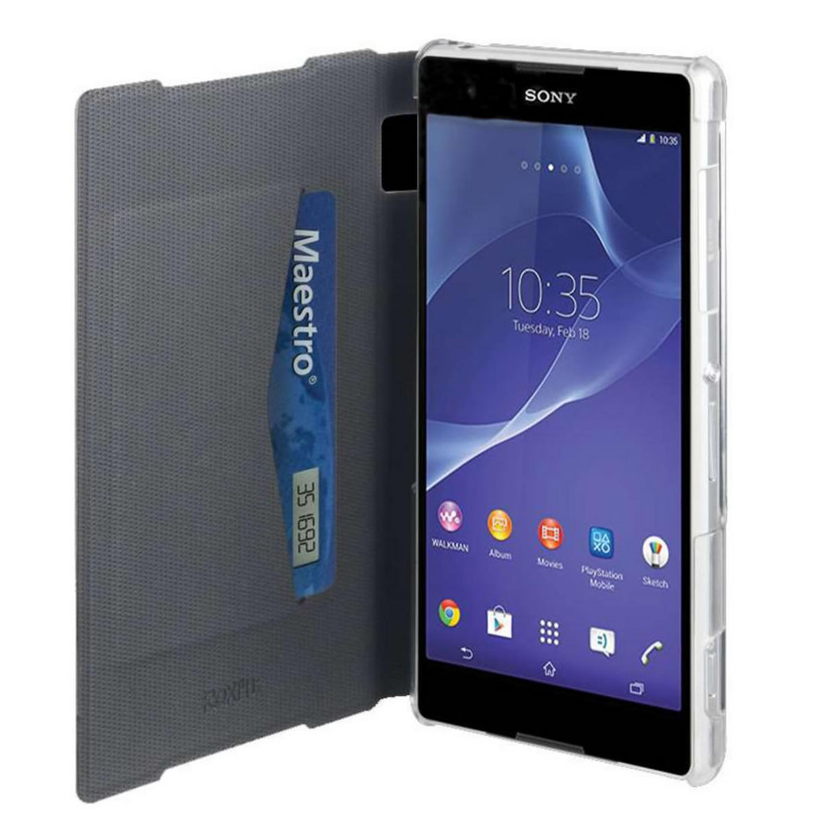 Roxfit Book Flip Case for Sony Xperia Z2 - Carbon Black