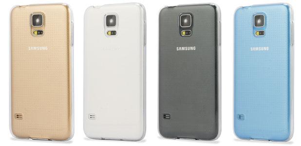 nuevo lanzamiento bien fuera x bonita y colorida Funda Samsung Galaxy S5 FlexiShield - 100% Transparente
