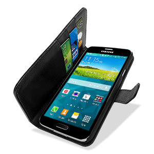 Wallet Stand Case for Samsung Galaxy S5 - Black