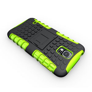 ArmourDillo Hybrid Protective Case for Samsung Galaxy S5 - Green
