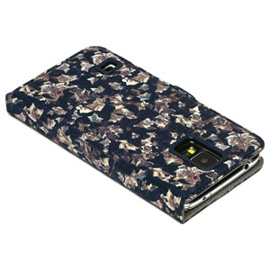 Zenus Liberty of London Galaxy S5 Diary Case - Navy Ivy