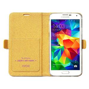 Zenus Liberty of London Galaxy S5 Diary Case - Orange Meadow