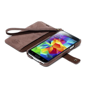 Zenus Neo Vintage Diary Case for Samsung Galaxy S5 - Dark Brown