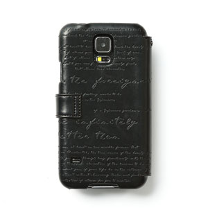 Zenus Lettering Diary Case for Samsung Galaxy S5 - Black