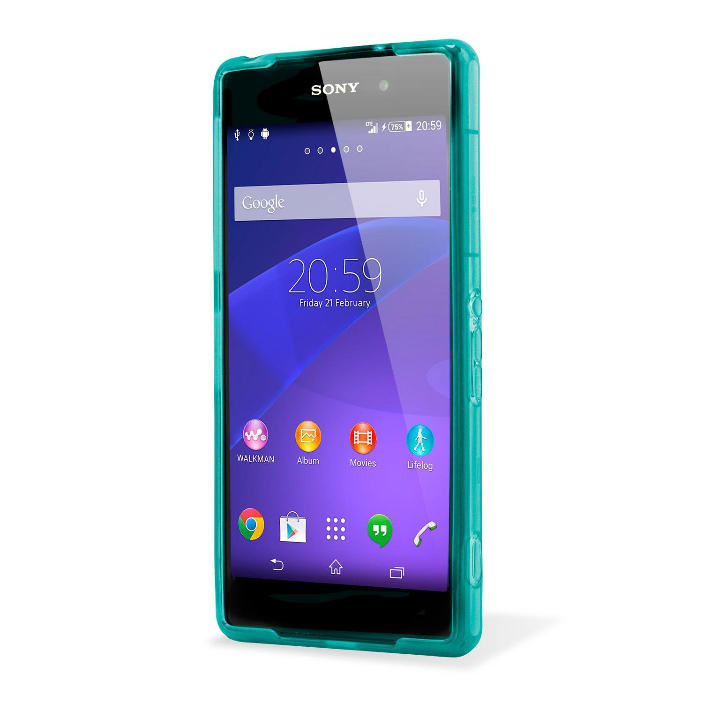 FlexiShield Skin for Sony Xperia Z2 - Light Blue