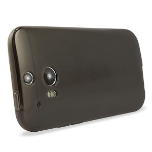 FlexiShield Skin for HTC One M8 - Smoke Black