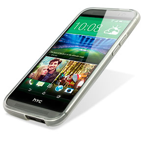 FlexiShield Skin for HTC One M8 - Frost White