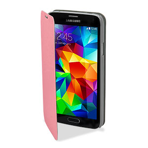 Pudini Samsung Galaxy S5 Flip and Stand Case - Pink