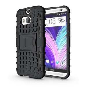 ArmourDillo Hybrid Protective Case for HTC One 2014 - Black