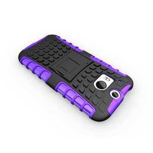 ArmourDillo Hybrid Protective Case for HTC One M8 - Purple