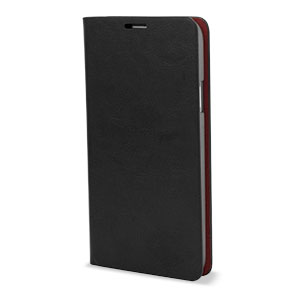 Leather-Style Wallet Case for Samsung Galaxy S5 - Black