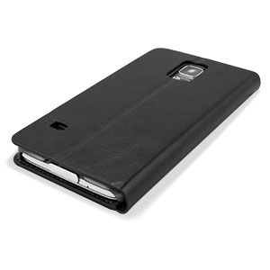 Adarga Leather-Style Wallet Case for Samsung Galaxy S5 - Black