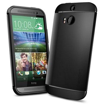 Spigen Slim Armor HTC One M8 Case - Smooth Black