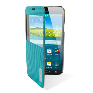 ROCK Elegant Samsung Galaxy S5 Smart View Flip Case - Blue