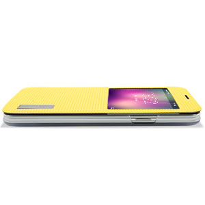 ROCK Elegant Samsung Galaxy S5 Smart View Flip Case - Yellow