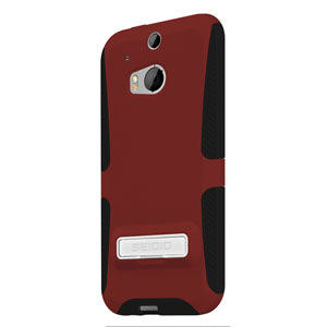 Seidio DILEX HTC One M8 Case with Kickstand - Garnet Red
