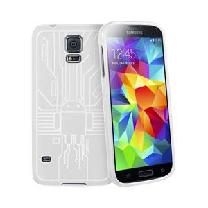 Cruzerlite Bugdroid Circuit Samsung Galaxy S5 Case - White