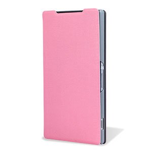Pudini Book Flip and Stand Sony Xperia Z2 Case - Pink