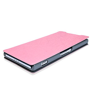 Pudini Leather Style Sony Xperia Z2 Stand Case - Pink