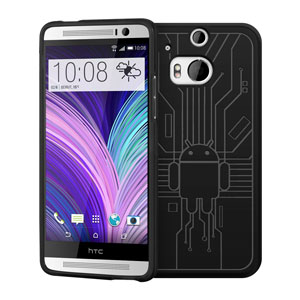 Cruzerlite Bugdroid Circuit HTC One M8 Case - Black