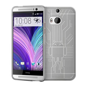 Cruzerlite Bugdroid Circuit HTC One M8 Case - Clear