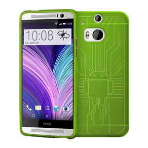 Cruzerlite Bugdroid Circuit HTC One M8 Case - Green