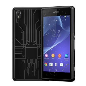 Cruzerlite Bugdroid Circuit Sony Xperia Z2 Case - Black