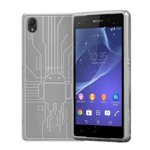 Cruzerlite Bugdroid Circuit Sony Xperia Z2 Case - Clear