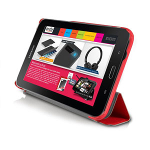 housse samsung galaxy tab 3 lite 7 0 orzly slim rim rouge. Black Bedroom Furniture Sets. Home Design Ideas
