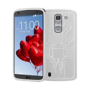 Cruzerlite Bugdroid Circuit LG G Pro 2 Case - White
