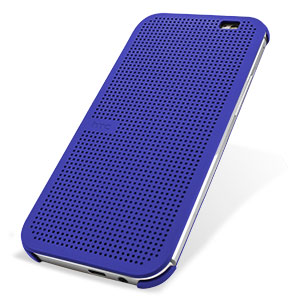 online store 5b405 f9049 Official HTC One M8 / M8s Dot View Case - Imperial Blue