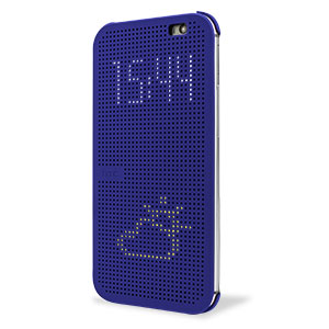 Official HTC One M8 Dot View Case - Imperial Blue