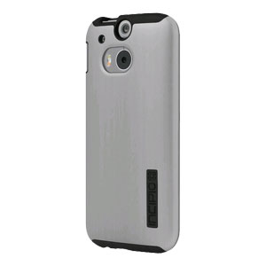 Incipio DualPro Shine HTC One M8 Case - Silver / Black