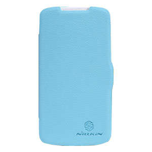 Nillkin HTC Desire 500 Leather Style Flip Case - Blue