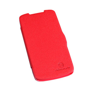 Nillkin HTC Desire 500 Leather Style Flip Case - Red