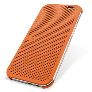 Official HTC One M8 Dot View Case - Orange Popsicle