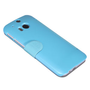 Nillkin Fresh Faux Leather HTC One M8 2014 View Case - Blue