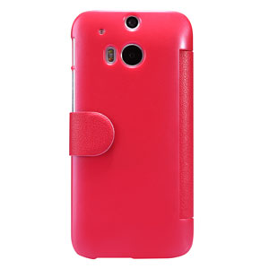 Nillkin Fresh Faux Leather HTC One M8 View Case - Red