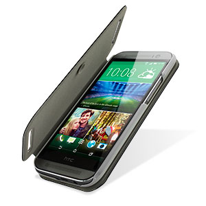 Pudini Flip and Stand HTC One M8 2014 Case - Black