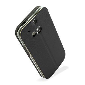 Pudini Flip and Stand HTC One M8 Case - Black