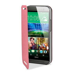 Pudini Flip and Stand HTC One M8 Case - Pink