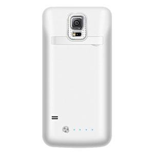 Samsung Galaxy S5 Power Bank Flip Case - White