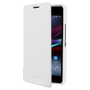 Roxfit Book Flip Case for Sony Xperia E1 - Polar White