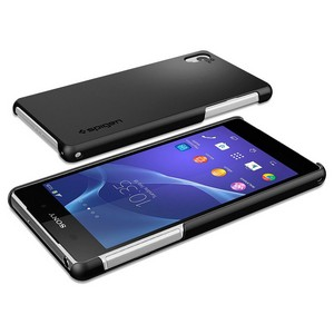 Spigen Ultra Fit Case for Sony Xperia Z2 - Smooth Black