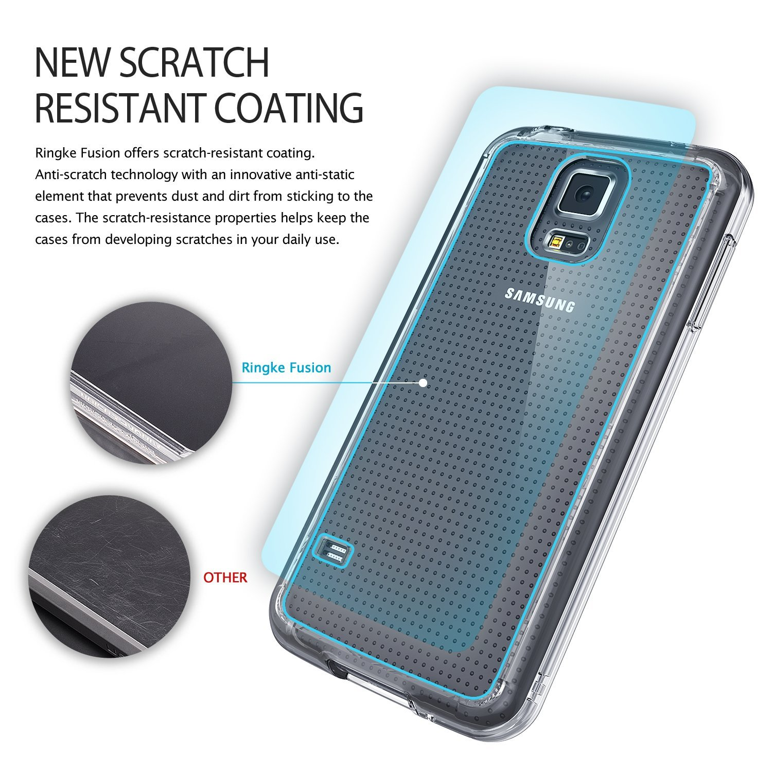 Rearth Ringke Fusion Samsung Galaxy S5 Case Crystal Clear