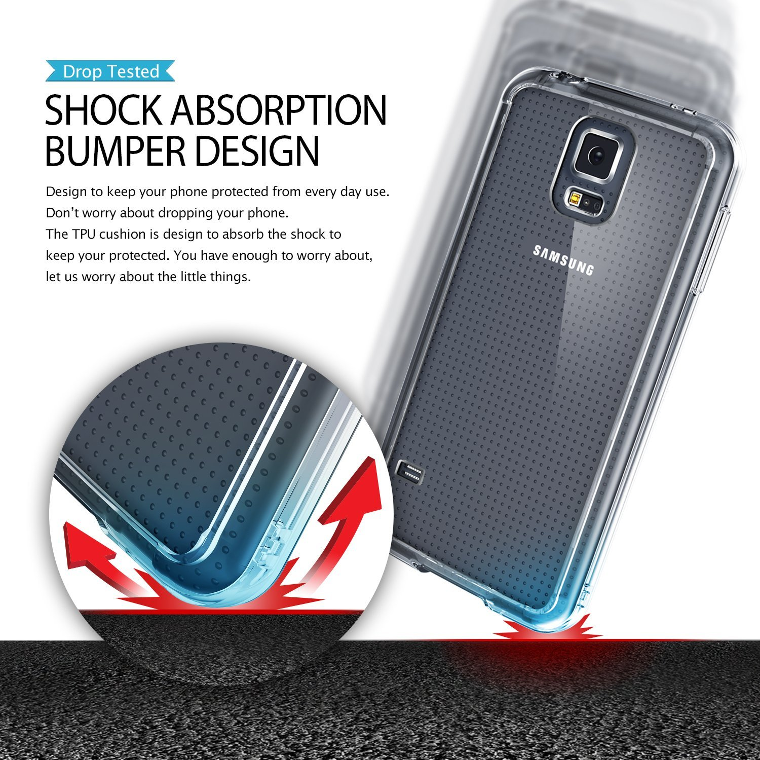 Rearth Ringke Fusion Samsung Galaxy S5 Case Crystal Clear S6 View